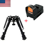 Tactical Adjustable 69 Inch Rifle Bipod+scope Sight For 20mm Picatinny Rail Usa