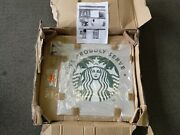 Starbucks Advertising Metal Sign Retail We Proudly Serve Siren Double Sided