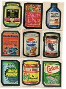 Wacky Packages 1974 Series 10 Complete Set Of 30 W Rare Pupsi And 7/9 Of Puzzle