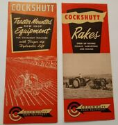 Vintage Cockshutt Tractor Mounted Rowcrop And Equipment And Rakes Dealers Brochures