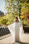 Magnificent Julie Vino Wedding Gown-style 1502- Size 38-worn Once