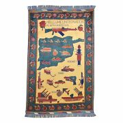 Hand-knotted Tribal War Design Handmade Wool Rug Size 3.11 X 6.2 Brral-585