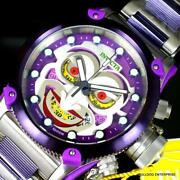 Dc Comics Joker Russian Diver Offshore Steel Purple Swiss Watch 52mm New