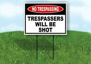 No Trespassing Trespassers Will Be Shot Yard Sign Road With Stand Lawn Poster