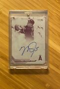 2016 Bowmans Best Magenta Used Printing Plate 1/1 Mike Trout Auto Autograph