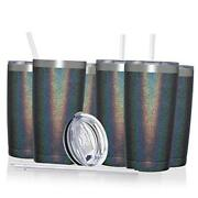 20oz Insulated Stainless Steel Tumbler Coffee 12 Pack Slate Gray Shimmer
