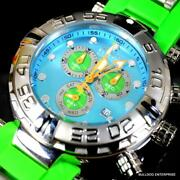 Reserve Subaqua Noma I Puppy Edtn Swiss Made Blue Green 47mm Watch New