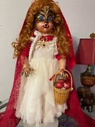 Haunted Gothic Horror Halloween Creepy Doll Little Red Riding Hood By Jewlflower