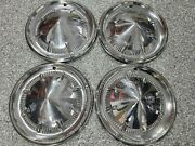 Ford 1960 60 Passenger Car Hubcaps Nice Used Oem Fomoco Wheelcovers 14 Hubcap
