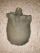Soviet Russian Army Canteen Mess Kit Water Flask Bottle Pouch