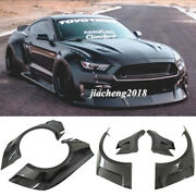 Frp Fender Flares Wide Body Kit Wheel Arch Cover Trim For Ford Mustang