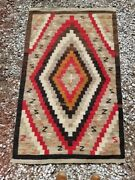Early American Navajo Crystal Trading Post Indian Rug 6and0394 X 3and0394 Circa 1920-30