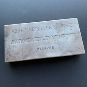 Rare 6th Series 50oz Engelhard Silver Bar Ingot 999 Fine Extruded And Toned