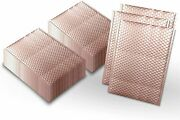 150ct 9.5x13.5 Matte Metallic Rose Gold Poly Bubble Shipping Mailers Envelopes