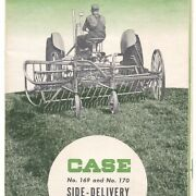 J I Case 169 Horse-drawn 170 Tractor Drawn Side Delivery Rakes Farm Brochure