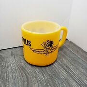 Vintage Federal Glass Milk Coffee Mug Cup Indy 500 Race Indianapolis Speedway
