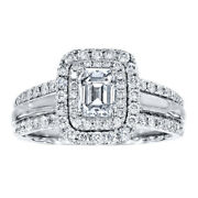 1.50 Ct Real Diamond Wedding Ring For Women Solid 950 Platinum Rings Size 5 6