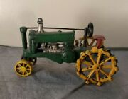 Antique Cast Iron Toy Tractor Vintage Farm Toys, Heavy Reproduction Fs Charity