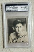 Rare 1939 Play Ball 50 - Hof Charlie Gehringer Auto Autograph Signed / Psa/dna
