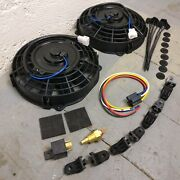1999 - 2003 Ford F Series 8 Dual Fans Air Cooling Fan Push Pull Electric 12v