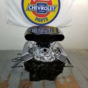 Sb Chevy Black Caddy Olds Ac Tall Valve Covers Engine Kit Small Block 283-350 V8