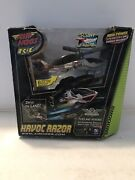 New Rare Air Hogs R/c Havoc Razor Helicopter Heli Flies Hovers Drives On Land