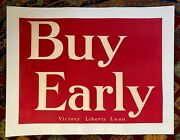 Vintage Wwi Victory Loan Poster Buy Early Circa 1919 Linen-backed.