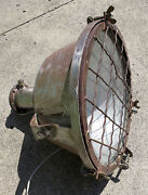 Antique Nautical Industrial Caged Conical Ceiling Pendant Ship Light Super Cool