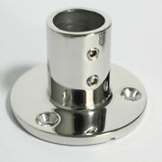 Boat Hand Rail Fitting 90 Degree 1and039and039 Round Stanchion Base Marine Stainless Steel