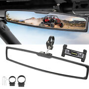 16inch Rear View Center Race Mirror Alum W/1.75-2 Clamp + Roll Bar Led Light