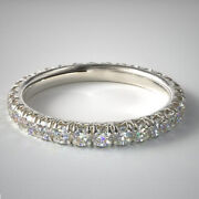 Real 1.00 Ct Stunning Diamond Wedding Band Solid 14k White Gold Bands Size 4 5 6