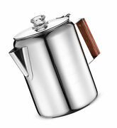 Coffee Maker Pot Percolator Brew 12 Cups Stainless Steel Outdoor Camping Travel
