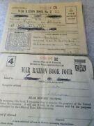 World War 2 War Ration Books No. 3 And 4 With Stamps Illinois