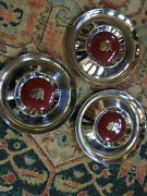 1954 Mercury Hubcap Wheelcovers Beautiful Early Take-offs Only Three But Great