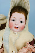 Rare 'dwarf' Body Kestner Jdk 235 Antique Doll With Trousseau And Accessories