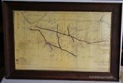 Rare Circa 1865 Map By The Pittsburgh, Fort Wayne And Chicago Railway