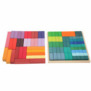 100pcs Wooden Building Block Toy Education Children Kids Jigsaw Puzzle Gift Toy