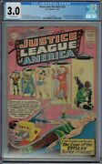 Cgc 3.0 Brave And The Bold 30 1st App Amazo 3rd Justice League America O/w Pgs