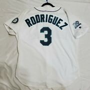 Authentic 52 2xl Alex Rodriguez Seattle Mariners Russell Athletic Jersey Rare