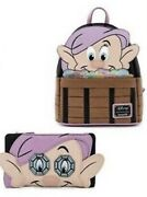 Loungefly Disney Snow White And The Seven Dwarfs Dopey Mini Backpack And Wallet