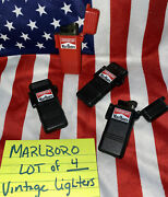 Marlboro 4 Black And Red Torch Lighter Vintage Collector Tobacco Phillip Morris