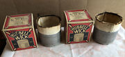 2 Vintage New Old Stock Hubbell Wick No. 331 Oil Cook Stoves Burners Lanterns
