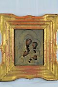 Large Antique Early 20th Century Russian Icon Oil On Wood Panel Dated 1910