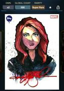 Topps Marvel Collect Original Watercolor Kevin-john Red Signature Black Widow