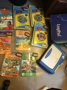 Leap Frog Leap Pad Learning System 8 Books 8 Cartridges Carrying Case