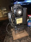 Vintage Coin Rotary Pay Phone American Electric Circa 50s Highly Polished Chrome