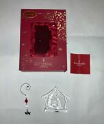 Waterford Crystal 2015 Annual Nativity Christmas Ornament Holy Family Decoration