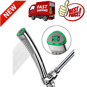 Led Thermometer Handheld Shower Heads, Water Powered Light To Display Fahrenheit