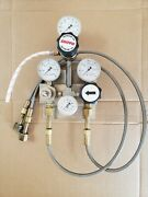 Semiautomatic Switchover Manifold Gas Co2 Draft Beer Soda System Valve Regulator