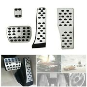 Foot Pedal Auto Interior Inner Silver Parts Alloy Rubber Speed Reliable